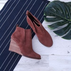 Lucky Brand| Yoniana Wedge Bootie Leather Suede